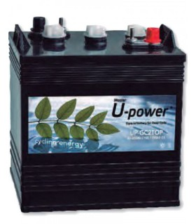 6V 250Ah Batería Solar plomo ácido ciclo profundo U-POWER UP-GC2TOP 6 V 250 A Bateria industrial