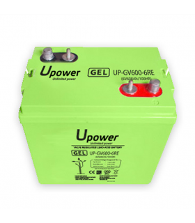 6V 600Ah Batería GEL U-POWER UP-GV600-6RE 6 V 600 A Sin mantenimiento
